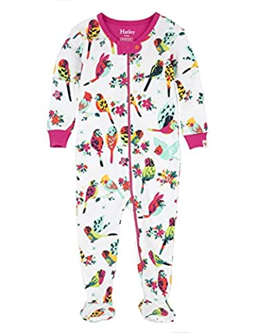 Hatley Baby Toddler Girls' 100% Organic Cotton Footed Sleeper, Tropical