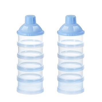 53353487264e Accmor Baby Milk Powder Formula Dispenser, Non-Spill Smart Stackable Baby  Feeding Travel Storage...