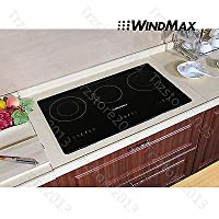 Windmax 29.5 Black Glass Plate 3 Burners Induction Hob Triple Stove Cooktop