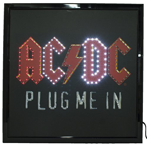 Officially Licensed AC/DC Logo Large 19 by 19 Inch Led - Linda Logo