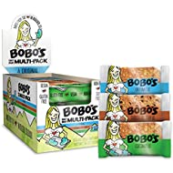 Bobo's Oat Bars (Variety pack, 12 Pack of 3 oz Bars) Gluten Free Whole Grain Rolled Oat Bars - Great Tasting Vegan On-The-Go Snack, Made in the USA
