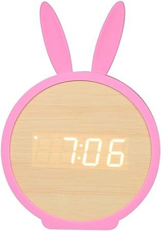 xikaiai Relojes De Mesa Digitales De Temperatura Led para Niños ...
