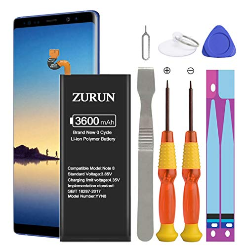 Galaxy Note 8 Battery ZURUN 3600mAh Li-Polymer Battery EB-BN950ABE Replacement for Samsung...