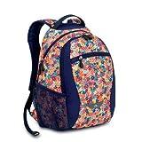 High Sierra Curve Backpack, Flowers, 18.5x12.5x8.5-Inch
