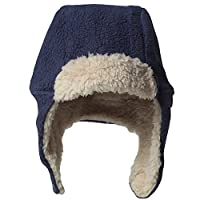 Zutano Cozie Fleece Furry Hat -Navy - 12M