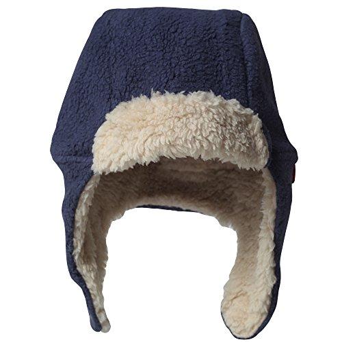 (Zutano Cozie Fleece Furry Hat -Navy - 6M)
