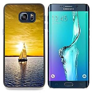 "Qstar Arte & diseño plástico duro Fundas Cover Cubre Hard Case Cover para Samsung Galaxy S6 Edge Plus / S6 Edge+ G928 (Soleado Mar Yate"")"