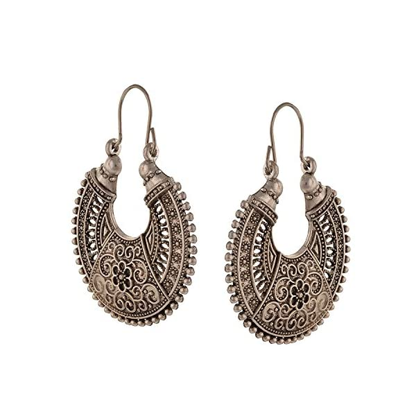 Efulgenz Boho Jewelry Indian Oxidized Silver Vintage Retro Ethnic Dangle Tribal Tibetan Gypsy Dangle Earrings for Girls Women