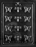 Cybrtrayd Life of the Party A128 Bite Size Butterfly and Dragonfly Chocolate Candy Mold in Sealed Protective Poly Bag Imprinted with Copyrighted Cybrtrayd Molding Instructions