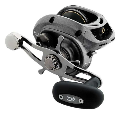 Daiwa LEXA300HS-P High Capacity Low-Profile 7.1:1 Baitcast Reel, Right Hand, Black