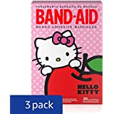 Band-Aid Brand Adhesive Bandages Featuring Hello Kitty For Kids, Assorted Sizes, 20 Count(Pack Of 3)