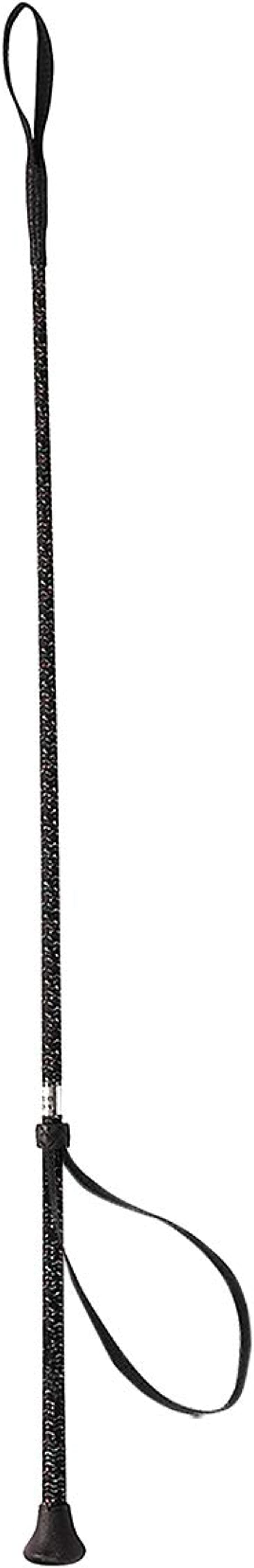 30 inches Black MacTack Childrens Dressage Whip With No Loop