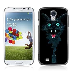 CQ Tech Phone Accessory: Carcasa Trasera Rigida Aluminio Para Samsung Galaxy S4 i9500 - Cool Ink Cat Abstract Painting