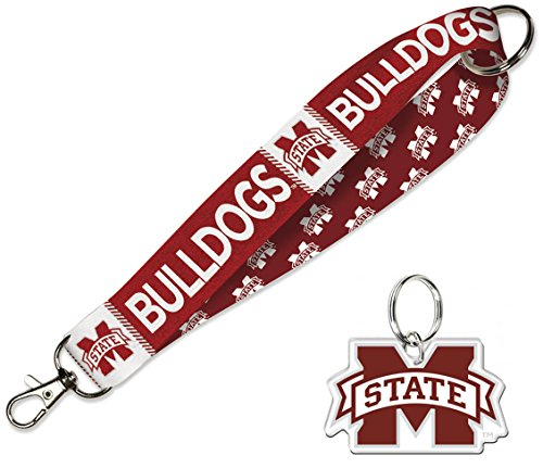 Gym State Mississippi Bulldogs Bag (WinCraft Mississippi State Bulldogs Gift Set 1 Premium Key Strap and 1 Key Ring)