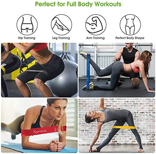 Syntus 9-in-1 Yoga Set, 1 Yoga Strap with 12 Loops, 2 EVA Foam Soft Non-Slip Yoga Blocks 9×6×4 inches,4 Resistance Bands with Instruction Book for Yoga, Pilates, Stretchings (Grey)