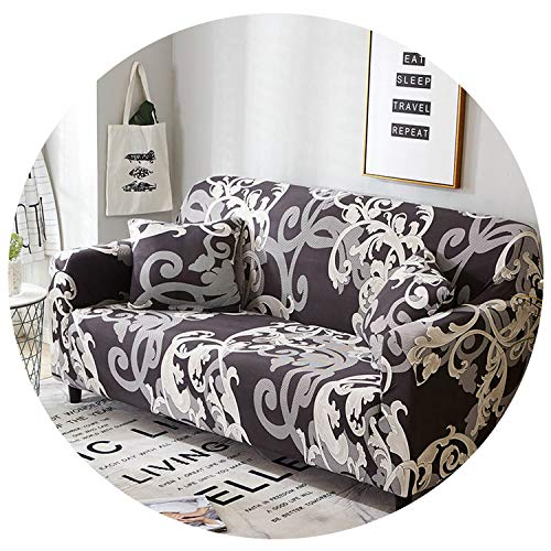 - Twill Slipcovers Sofa Couch Cover Tight Wrap All-Inclusive Slip-Resistant Sofa Covers for Living Room Sofa 1Pc,Color 5,2-Seater 145-185Cm