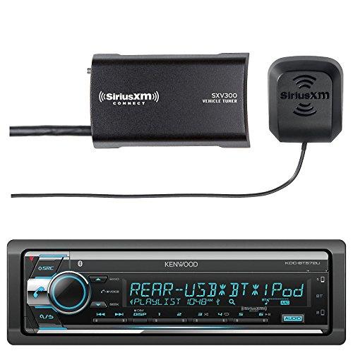 Kenwood KDCBT572U in Dash CD Player AM/FM Bluetooth Radio Stereo Receiver with Sirius SXV300-V1 Vehicle Satellite Radio - Player Kenwood Cd Indash