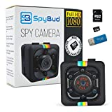Spy Bud HD Hidden Mini Spy Camera SQ11 - Portable Motion Detection - Night Vision - For Drone, Car, Home & Office - With 8GB SD Card, memory Card Adapter & Card Reader