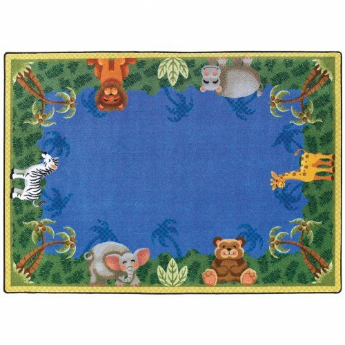 Joy Carpets Jungle Friends Primary Colors Rug - 5'4