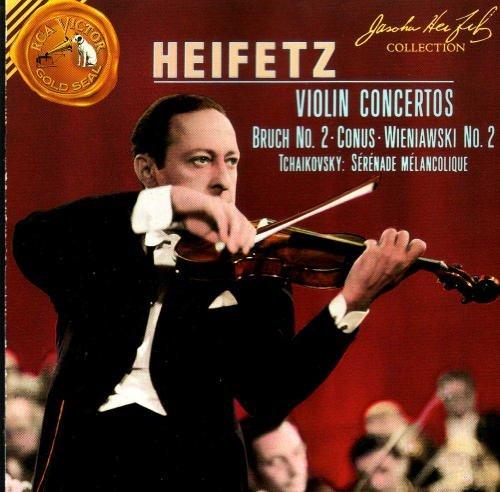 Heifetz: Violin Concertos - Bruch, No. 2; Conus; Wieniawski, No. 2; Tchaikovsky, Sérénade Mélancolique