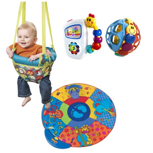 0569cf60ea3c Evenflo Johnny Jump Up Doorway Jumper with Musical Mat   Baby ...
