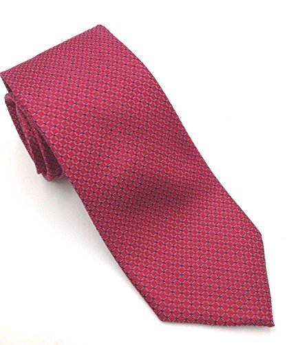 (Club Room Mens One Silk Satin Neat Checked Neck Tie Red Not)