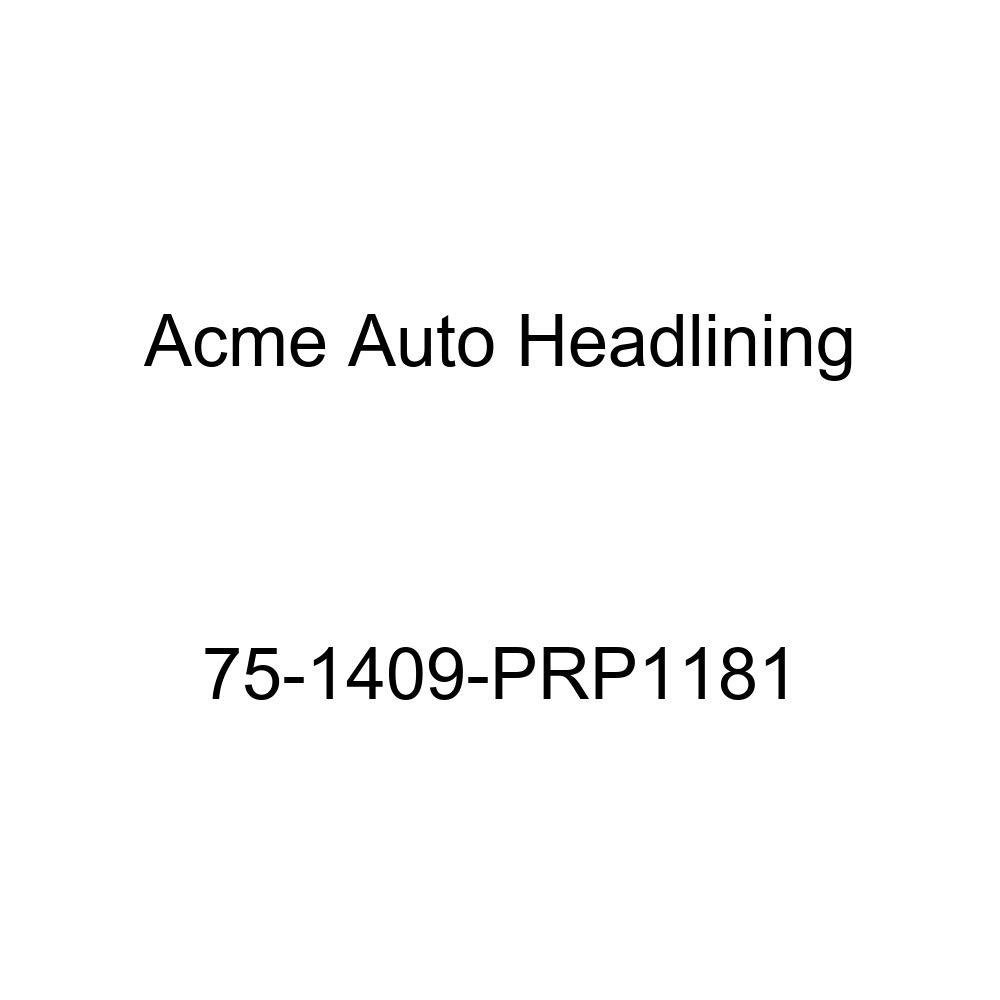 Acme Auto Headlining 75-1409-PRP1181 White Replacement Headliner 1975 Chevrolet Monte Carlo 2 Door Hardtop 5 Bow