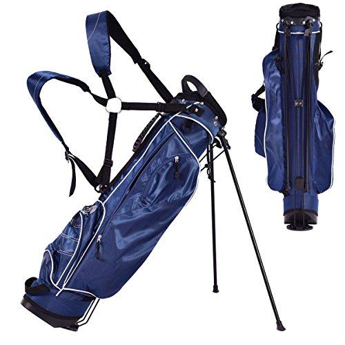 王族医薬スクラブEosphor USゴルフクラブキャリーカートスタンドバッグ 4方向仕切り キャリーオーガナイザー ポケット収納 ショルダーストラップ ウォーキング ゴルファー ブルー