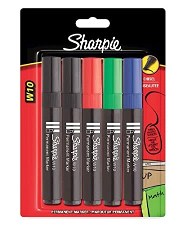 Sharpie W10 Blister Pack Permanent Marker - Black Pack of 3 Newell Rubbermaid S0823762