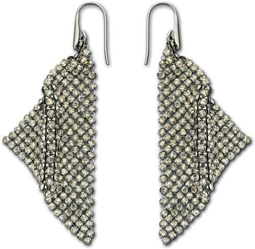 Swarovski Fit Silver Shade Pierced Earrings by Swarovski (Image #1)