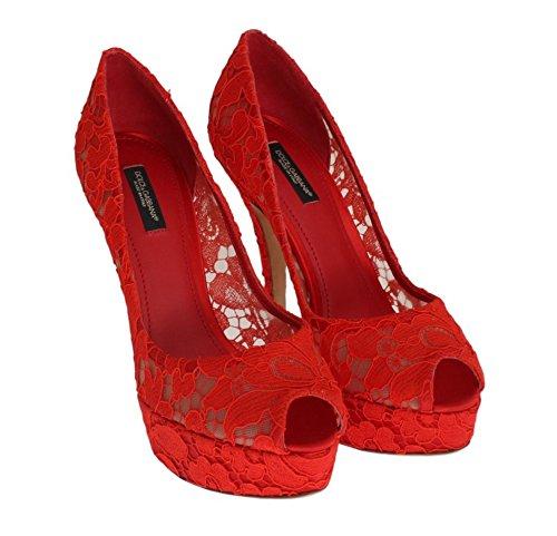 5c04136d3d7d9d Dolce   Gabbana Damen Schuhe - Floral Lace- Pumps- Stilettos - Peep Toes -