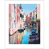 Posters: Venice Poster Art Print - Venice, Canal Reflections, Margaret Heath (20 x 16 inches)