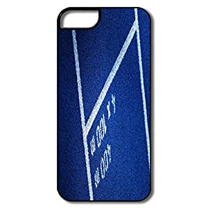 Designed Funny Cover Blue Running Track For IPhone 5/5s