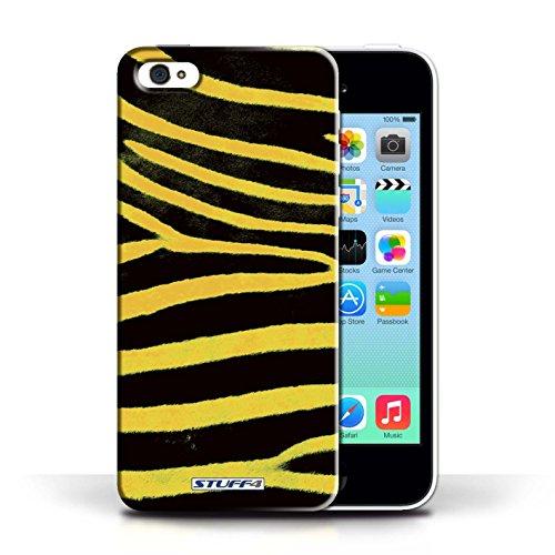 Case für Apple iPhone 5C / Gelb Entwurf / Zebra Tier Haut/Print Collection