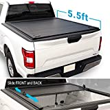 Syneticusa Aluminum Retractable Low Profile Tonneau Cover for 2004-2020 F-150 F150 5.5ft Short Truck Bed