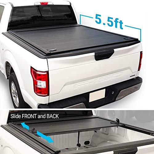 Syneticusa Aluminum Retractable Low Profile Waterproof Tonneau Cover for 2004-2020