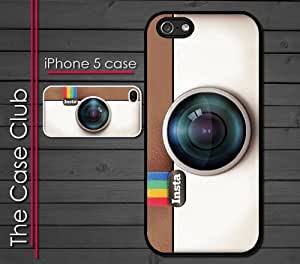 iPhone 5C (New Color Model) Rubber Silicone Case - Instagram Camera Hipster Cool Insta style camera