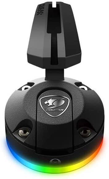 Cougar - Soporte de Cable para ratón y ratón RGB con Ventosa, Color Negro