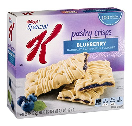 Pastries Breakfast - Kellogg's, Special K, Pastry Crisps, Blueberry, 4.4oz Box (Pack of 4)
