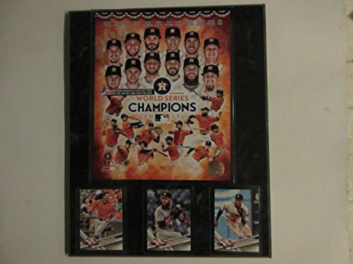 Mlb Card Plaques (HOUSTON ASTROS 2017 WORLD SERIES CHAMPIONS PLAYERS PHOTO & 3 CARDS MOUNTED ON A