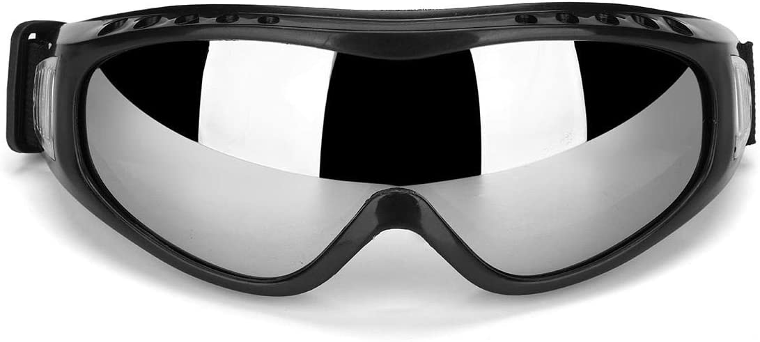 Bicchieri Anti Nebel Staub Wind UV Wasser Schnee Snowboard Brille Helm Ski Sonnenbrille Brille Farbe : Silver