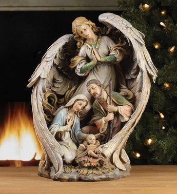 NAPCO 46017 Guardian Angel & Holy Family Figurine B01MS42PJ5