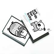 Wee Gallery Art Cards for Baby, High Contrast Black and White Cards for Baby, Pets Collection - 0 to 12 Months