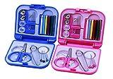 Fashion Hot Portable Travel Sewing Kits Box Needle Threads Scissor Thimble Home Tools