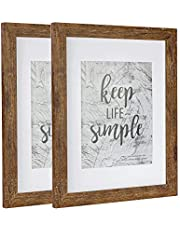 Picture Frame Made of MDF Wood for Tabletop Display and Wall Mounting Photo Frame Brown