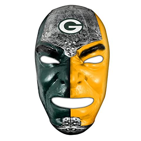 Franklin Sports NFL Green Bay Packers Team Fan Face Mask (Green Bay Packers Hat Scarf)
