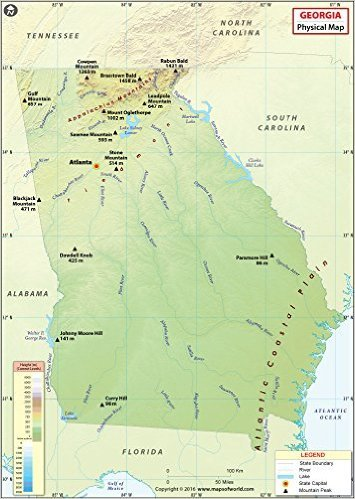 Georgien Karte.Georgien Physikalische Karte 91 4 Cm W X 129 1 Cm H Amazon De