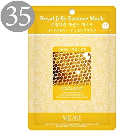 The Elixir Beauty Nature Premium Essence Facial Mask Pack Sheet 23g, Royal Jelly Mask Sheet Korean Cosmetic (35 Packs)