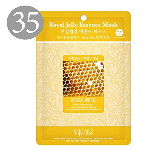 ture Premium Essence Facial Mask Pack Sheet 23g, Royal Jelly Mask Sheet Korean Cosmetic (35 Packs) ()