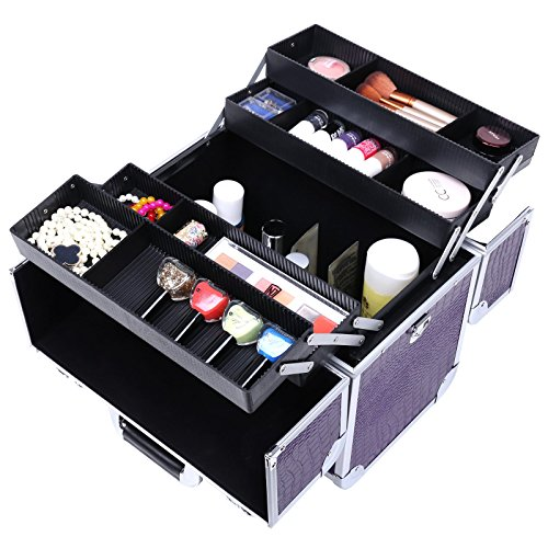 Songmics beauty case nail art valigia 36 5 x 22 x 35 cm - Porta smalti ikea ...